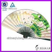 Folk Art Large Size Wall Decoration Bamboo Hand Fan