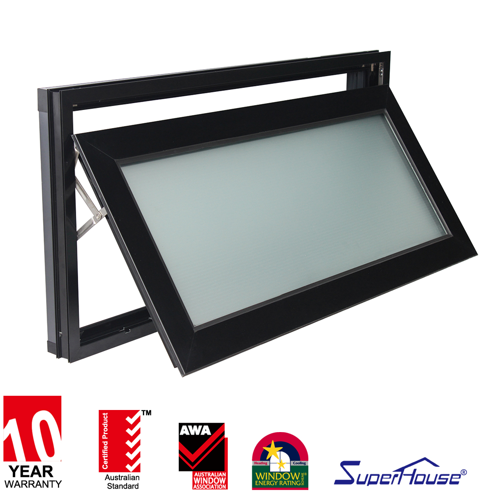 Superhouse glass powder coated aluminum awning window
