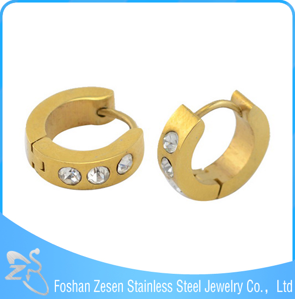ZS05177 women accessories crystal popular gold earrings 2012 new design
