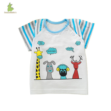 Cartoon bamboo fiber short sleeve cotton t-shirt