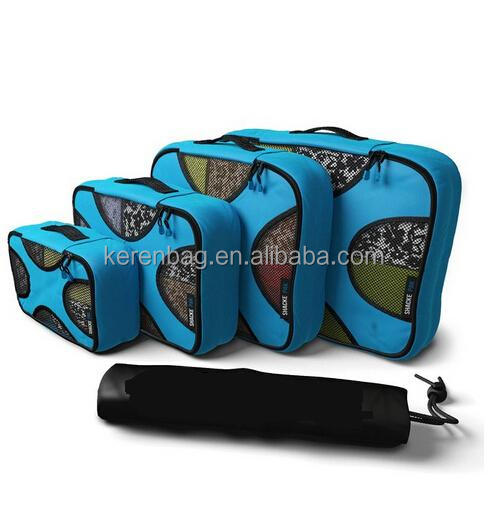 4 Set Packing Cubes - Travel Organizers with Laundry Bag travel accessory 4 Piece Lightweight Packing Cubes Set