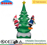 6 FT Led Light Tree with santa claus and penguin for Outdoor Christmas Decoration
