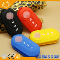 Wholesale Silicone Remote Key for Holder Case for FIAT 500