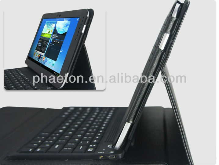 Black Bluetooth Keyboard With Leather Case Cover For Samsung Galaxy Note 10.1 Tab N8000