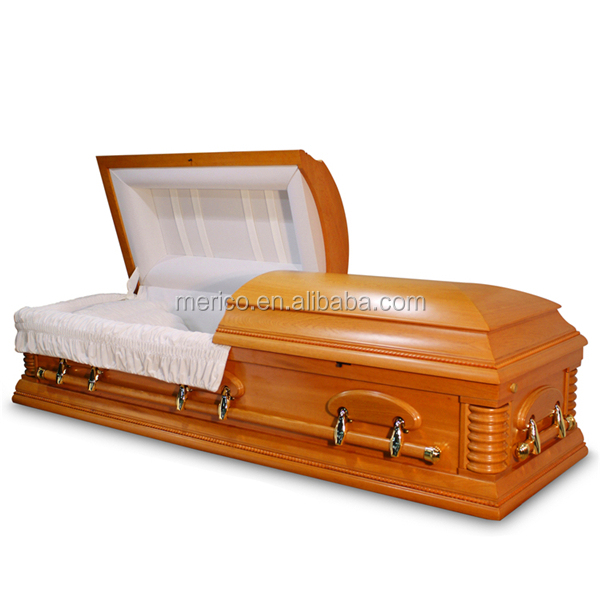SUMMERVILLE Oak mdf casket plastic coffins and caskets