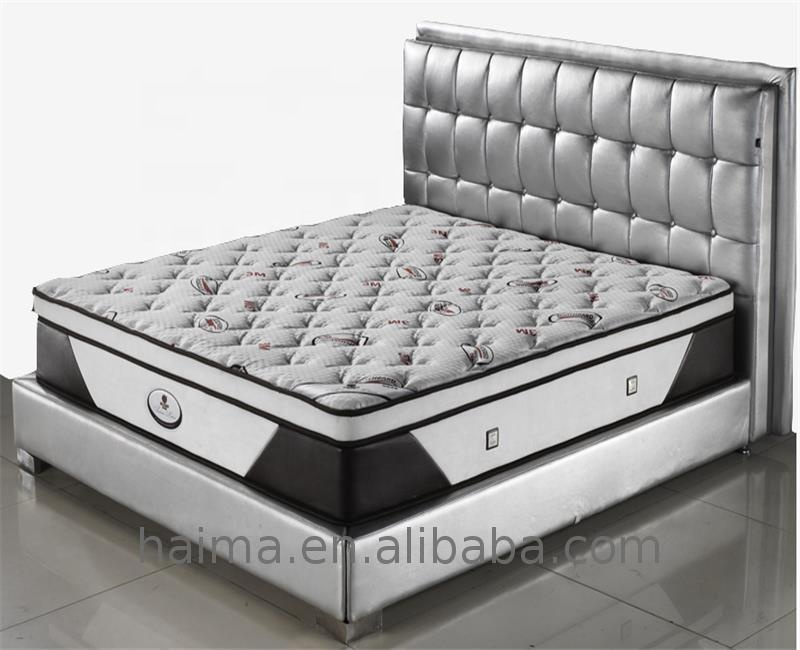 BS7177 King size bed room furnitures spring with quilting pillow top hybrid mattress - Jozy Mattress | Jozy.net