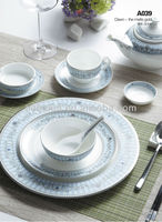 A015 High quality wholesale bone china used restaurant dinnerware