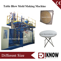 Folding table blow molding machine