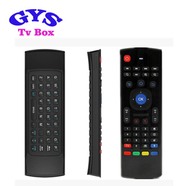 Two side 2.4G Wireless Air Fly Mouse+Keyboard+Remote Controller For Mini PC MX3 Remote Control Fly Air Mouse for Android Tv Box