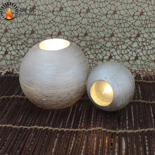 factory gold sliver copper metallic led candle flickering round ball candle led