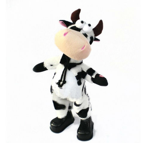 newest design funny plush cow stuffed plush china toy factory