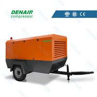 7~13bar Diesel portable screw compressor