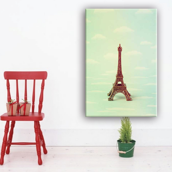 Eiffel tower home decorate canvas wall art painting designs for living room