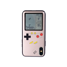 New Gameboy Playable Tetris Retro Gamer TPU Phone Case Protective Mobile Games Phone Cases For Iphone X 8/7/6 Plus