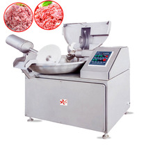 sale used Industrial stainless steel 125L automatic Vacuum Meat Bowl Cutter chopper Processing Machines for sausage/chicken/beef