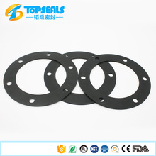 Customized round flat epdm silicone rubber gasket with <strong>hole</strong>