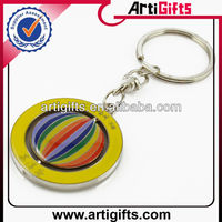 Promotional cheap metal zinc alloy spin key chain