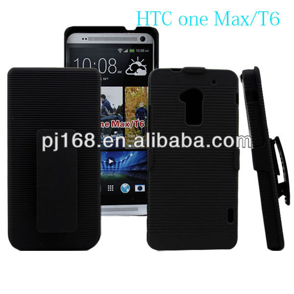 Belt clip holster hard cell phone case for htc one max t6