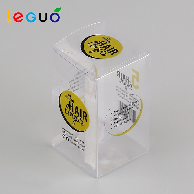 2017 Factory wholesale custom printing clear personal care hair pvc packaging boxes