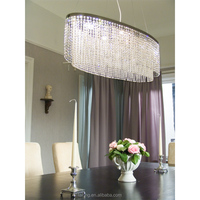 modern silver crystal table pendant light