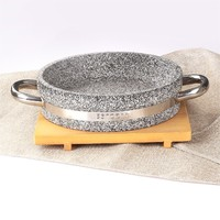Natural stone griddle non-stick stone cook griddle grill pan