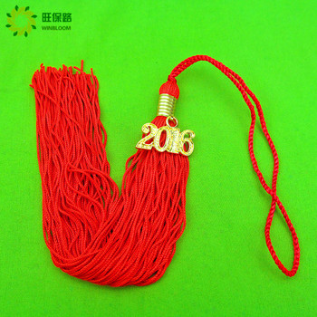 Fashion handmade mixed color gradual change color tassels