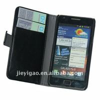 wallet Leather Case for Samsung i9100 Galaxy S2