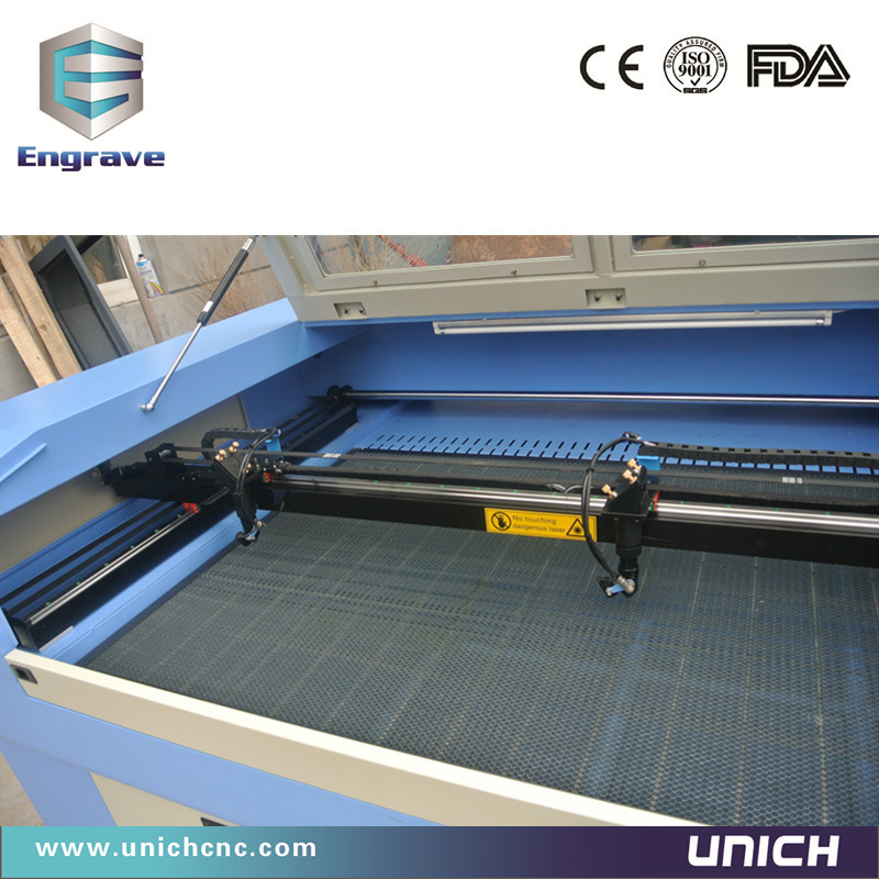 High precision double heads cnc laser machine/co2 laser engraving machine/laser cutting machine granite
