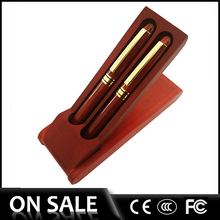 Popular sale wooden executive pen set for women,scanning color pen with small pen holder wood