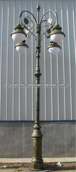 cast aluminium Saudi Arabia Decorative street lamp post/cast iron classic LED lamp post/garden lamp post/street light post