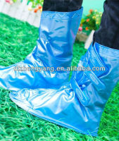 Adjustable Velcro Band Pocket PVC Rain Shoe Cover