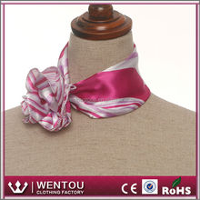 Polyester Satin Square Uniform Neck Scarf Types