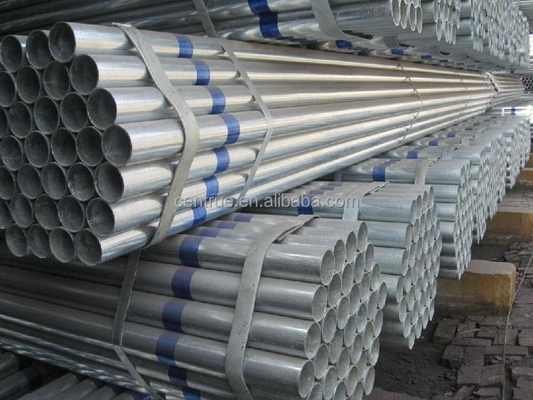 Round Section Shape welded GI conduit steel pipe