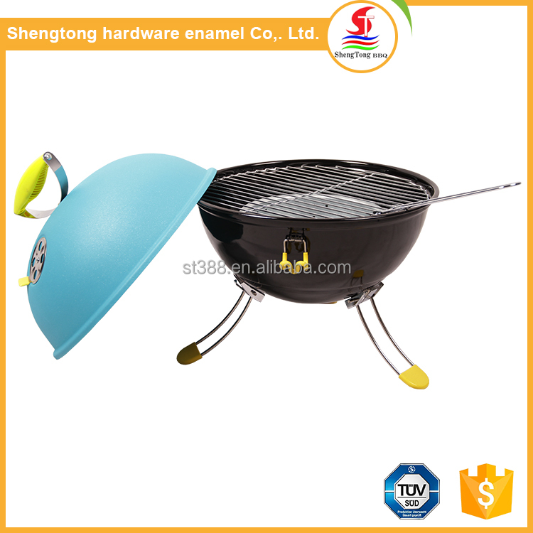 Best quality low price korean mini table barbecue colorful folding bbq grill for sale