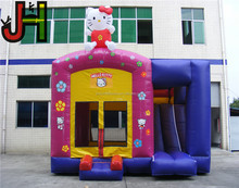 Lovely Hello Kitty Inflatable Bouncer With Slide Inside, Inflatable Bounce House, Kids Inflatable Jumping Castle