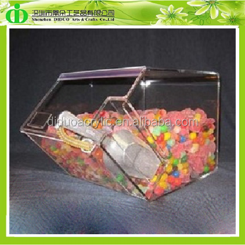 DDW-0051 Custom Retail Shop Clear Acrylic Candy Boxes/Acrylic Candy Display Containers/Acrylic Sweets Containers