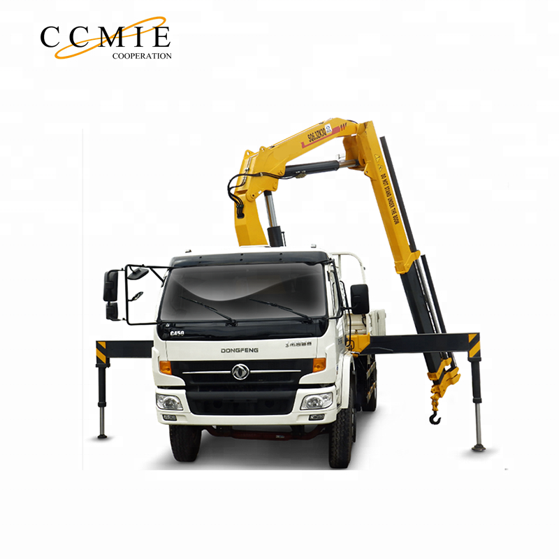 China 3 ton hydraulic engine crane folding truck mounted crane SQ3.2ZK1 for sale