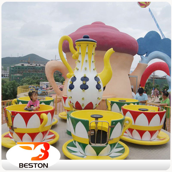 Amusement Park Rotation Rides Magic Swing Rides 24 Seats Coffee Cup Rides for Sale