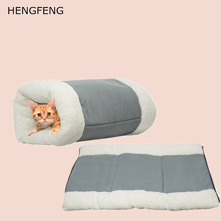 Manufacturers wholesale Super Soft Plush Cat Sleeping Bag Warm Cat Bed