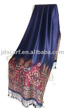 shawl made by high quality viscose and acrylic