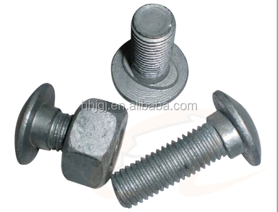 Bolt And Nut Set For Highway Safety Guardrail Highway guardrail bolt