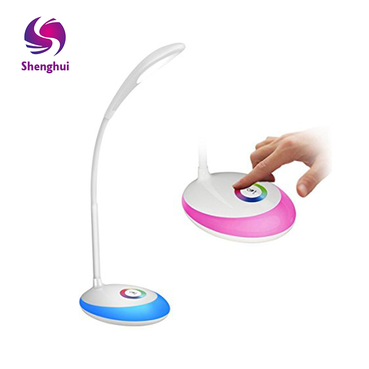 LED 7 color desk lamp the color change of the desk lamp USB charging Adjustable Foldable Night Lamp