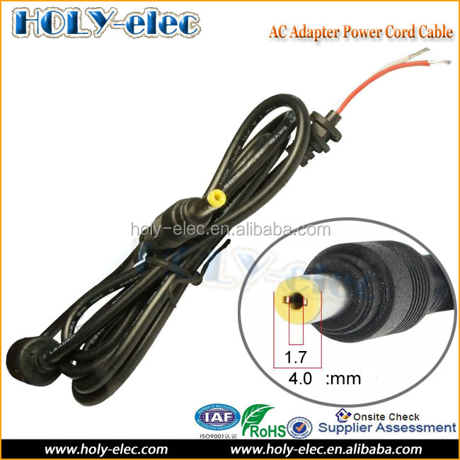 4.0 x 1.7mm pin Full copper DC Tip Plug Connector Cord Cable for HP Mini 110 210 700 730 series LAPTOP AC Adapter Charger
