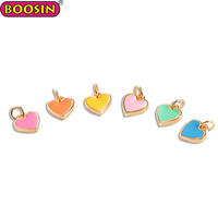 Fashion jewelry accessories zinc alloy enamel heart shape love charms