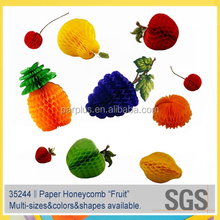 High Quality Fruit Shape Paper Honeycomb for Hawaiian Luau party decoration