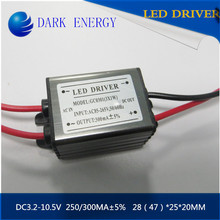 1-3 watt waterproof LED driver 300MA constant current power supply