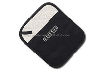 Classic Daily Use Terry Cloth Padding 100 Cotton Oven Mitt And Pot Holder In Black