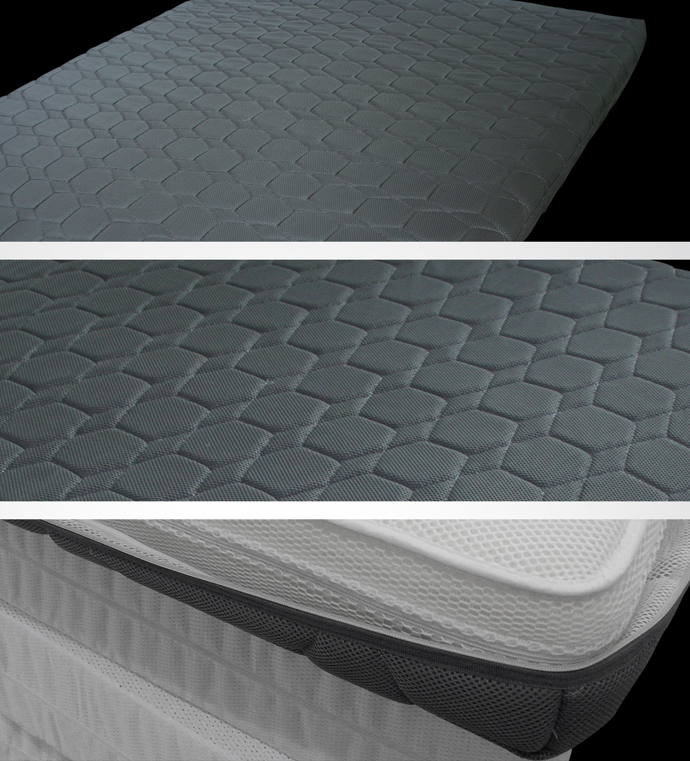sgs certificated wellcool large hexagon pattern 3d spacer fabric mattress