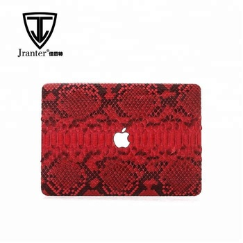 "Luxury genuine python skin leather case for Mackbook air cover 11"" 12""13"" 15"""