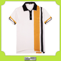 Blue and white quick dry sport fabric football soccer polo shirts for men